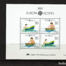 Sellos: AZORES 1989.HOJAS BLOQUE TEMA EUROPA CEPT.JUEGOS INFANTILES . NUEVA SIN CHARNELA. Lote 105847071