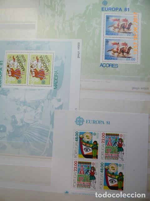 Sellos: tema europa cept, año 1981 completo con 4 hojitas, s/ch - Foto 2 - 108733043