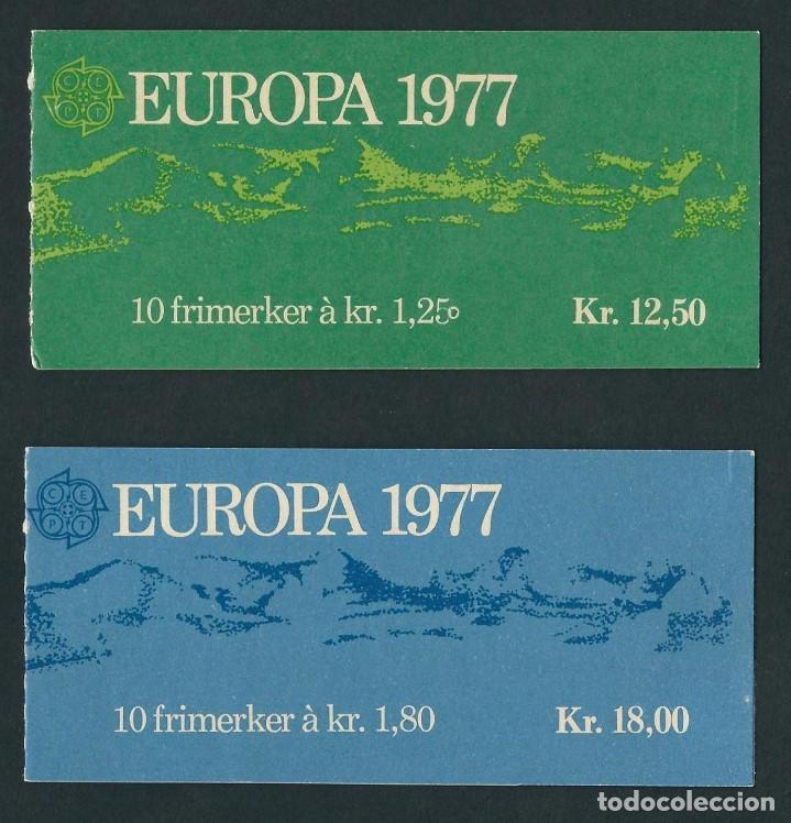 NORUEGA 1977 EUROPA CEPT 2 CARNETS (Sellos - Temáticas - Europa Cept)