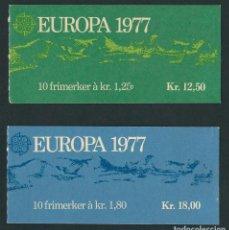 Sellos: NORUEGA 1977 EUROPA CEPT 2 CARNETS. Lote 112765911
