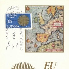 Sellos: EDIFIL 1973, EUROPA 1970, MAPA ANTIGUO, TARJETA MAXIMA DE PRIMER DIA DE 4-5-1970. Lote 112906835