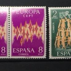 Sellos: AÑO 1972. EUROPA CEPT. 3 SERIES, NUEVAS SIN FIJASELLOS. Lote 117858263
