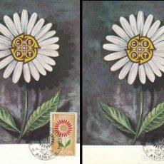 Sellos: EDIFIL 1613/4, EUROPA 1964, TARJETA MAXIMA DE PRIMER DIA DE14-9-1964 . Lote 118481519