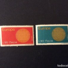 Sellos: ITALIA Nº YVERT 1047/8*** AÑO 1970. EUROPA. Lote 118499679