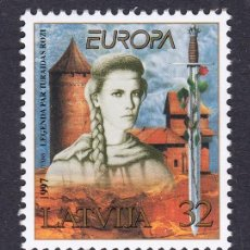 Sellos: LETONIA 1997 EUROPA. Lote 118824047