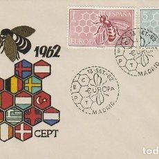 Sellos: EDIFIL 1448/9, EUROPA 1962, PRIMER DIA DE 13-9-1962 EN SOBRE DE ALONSO . Lote 120543867