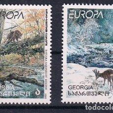 Sellos: GEORGIA 1999 EUROPA 1999 RESERVAS Y PARQUES NATURALES. Lote 186034472