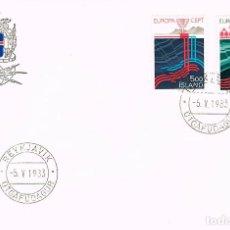 Sellos: ISLANDIA IVERT Nº 551/2, DESARROLLO DE LA ENERGIA GEOTERMICA, PRIMER DIA DE 5-5-1983. Lote 121881235