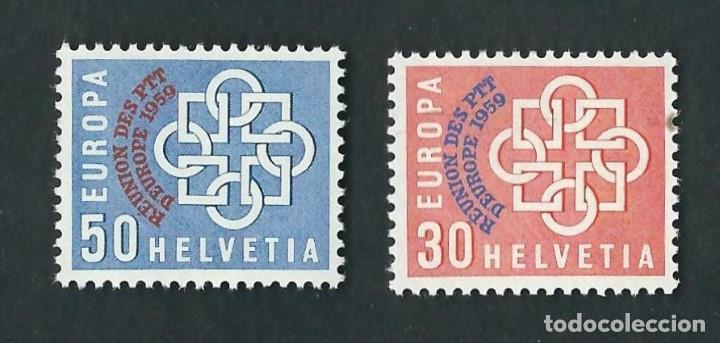 SUIZA 1959 EUROPA CEPT CONFERENCIA EUROPEA POSTAL (Sellos - Temáticas - Europa Cept)