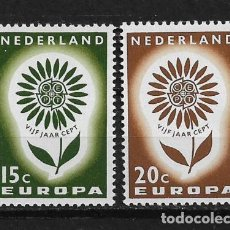 Sellos: NETHERLANDS 1964 EUROPA CEPT MNH - 5/20. Lote 125346695