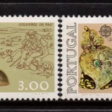 Sellos: PORTUGAL 1291/92** - AÑO 1976 - EUROPA - ARTESANIA. Lote 128441267