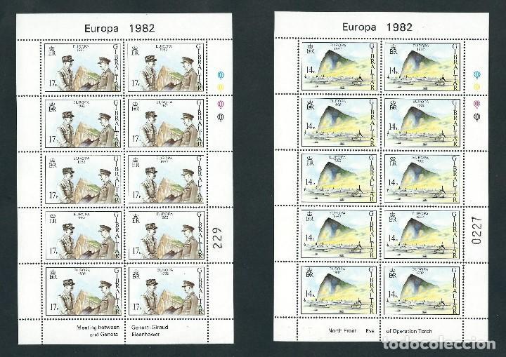 SELLOS GIBRALTAR 1982 EUROPA CEPT Y&T 458/9** 2 MINIPLIEGOS (Sellos - Temáticas - Europa Cept)