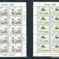 Sellos: SELLOS GIBRALTAR 1982 EUROPA CEPT Y&T 458/9** 2 MINIPLIEGOS. Lote 134029770