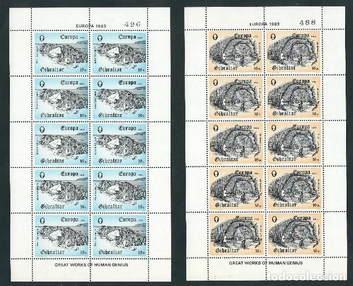 SELLOS GIBRALTAR 1983 EUROPA CEPT Y&T 471/2** 2 MINIPLIEGOS (Sellos - Temáticas - Europa Cept)