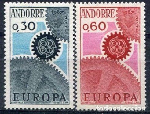 SELLOS ANDORRE / ANDORRA FRANCESA 1967 Y&T 179/80** EUROPA CEPT (Sellos - Temáticas - Europa Cept)