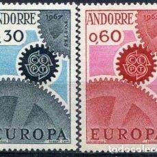 Sellos: SELLOS ANDORRE / ANDORRA FRANCESA 1967 Y&T 179/80** EUROPA CEPT. Lote 136349386