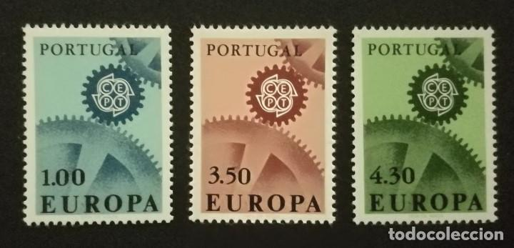 SELLOS PORTUGAL 1967 Y&T 1007/9** EUROPA CEPT (Sellos - Temáticas - Europa Cept)