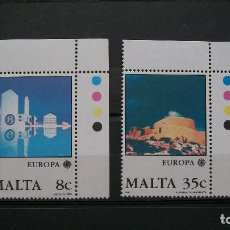 Sellos: MALTA-1987-Y&T 747/8**(MNH) SIN FIJASELLOS A 8%. Lote 136561510