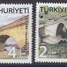 Sellos: TURQUIA 2018 EUROPA 2018 PUENTES. Lote 136748770