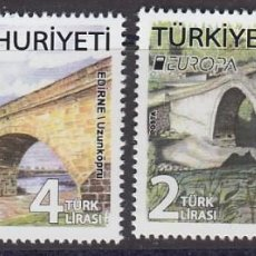 Sellos: TURQUIA 2018 EUROPA 2018 PUENTES. Lote 136748898