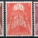 Sellos: LUXEMBURGO AÑO 1957 YV 531/33*** EUROPA. Lote 137153534