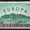 Sellos: SAN MARINO AÑO 1961 YV 523*** EUROPA - VISTAS Y PAISAJES - MONTE TITAN - TURISMO. Lote 137155606