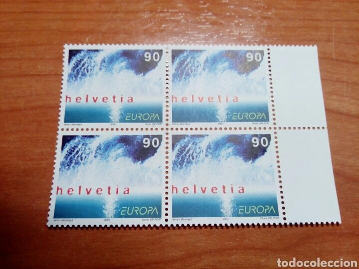 SUIZA 2001 EUROPA CEPT (BLOQUE DE 4 (Sellos - Temáticas - Europa Cept)