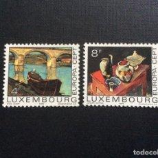 Sellos: LUXEMBURGO Nº YVERT 856/7*** AÑO 1975. EUROPA. PINTURA . Lote 140444662