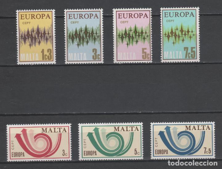 R/18793, LOTE DE 2 SERIES ** MNH DE MALTA -TEMA EUROPA CEPT-, AÑOS 1972/1973, EN PERFECTO ESTADO (Sellos - Temáticas - Europa Cept)