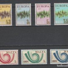 Sellos: R/18793, LOTE DE 2 SERIES ** MNH DE MALTA -TEMA EUROPA CEPT-, AÑOS 1972/1973, EN PERFECTO ESTADO. Lote 144573578