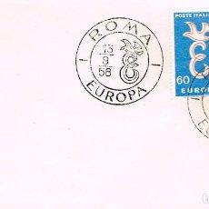 Selos: ITALIA 567/8, 765/6, EUROPA 1958, PRIMER DIA DE 13-9-1958. Lote 146250526
