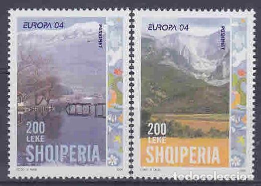 ALBANIA 2004 - EUROPA CEPT - TURISMO - VACACIONES - 2 SELLOS (Sellos - Temáticas - Europa Cept)