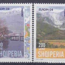 Sellos: ALBANIA 2004 - EUROPA CEPT - TURISMO - VACACIONES - 2 SELLOS. Lote 210607555