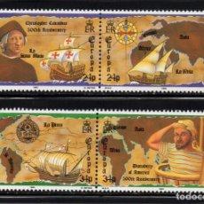Sellos: GIBRALTAR 647/50** - AÑO 1992 - EUROPA - 5º CENTENARIO DEL DESCUBRIMIENTO DE AMERICA. Lote 147493342