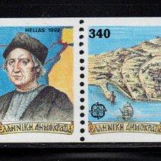Sellos: GRECIA 1786/87** - AÑO 1992 - EUROPA - 5º CENTENARIO DEL DESCUBRIMIENTO DE AMERICA. Lote 147494986
