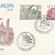 Sellos: EDIFIL 2474/5, EUROPA, GRANADA Y SEVIL, PRIMER DIA JORNADAS LOPETELICAS DE 2-5-1978 SFC. Lote 148186966