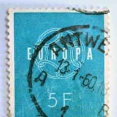 Sellos: SELLO POSTAL BELGICA 1959, 5 FR, EUROPA C.E.P.T., CONMEMORATIVO, USADO. Lote 150168722