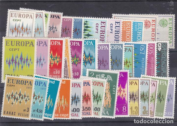 TEMA EUROPA CEPT AÑO 1972 SELLOS NUEVOS ** (NMH) LOTE - 61 B (Sellos - Temáticas - Europa Cept)