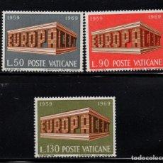 Sellos: VATICANO 488/90** - AÑO 1969 - EUROPA. Lote 152308382