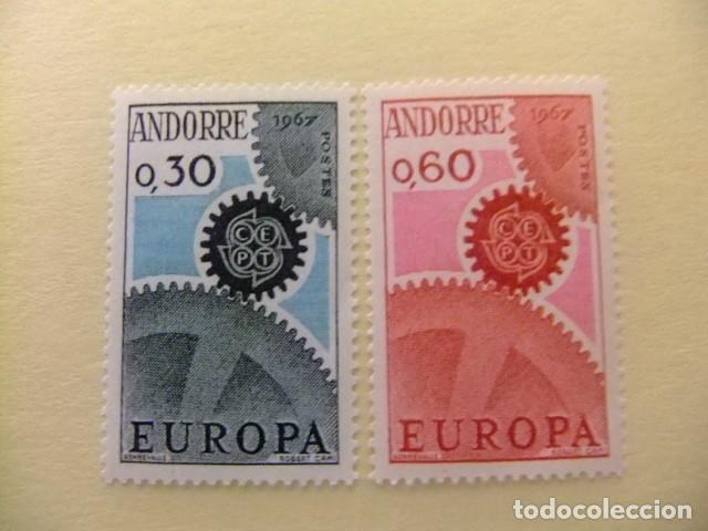 ANDORRA FRANCESA 1967 EUROPA CEPT TURISMO YVERT 179 /80 ** MNH (Sellos - Temáticas - Europa Cept)