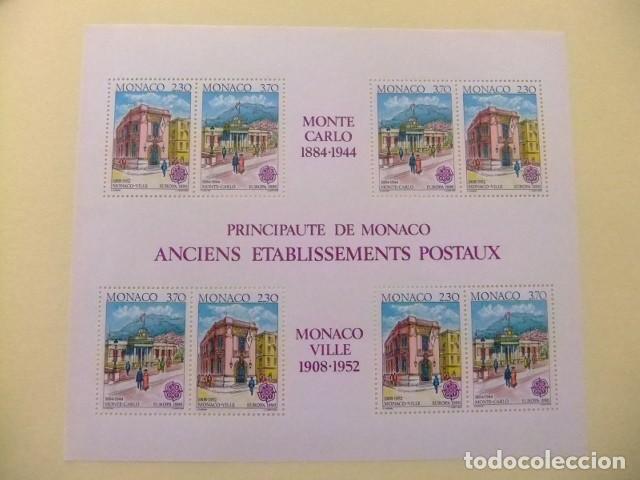 MONACO 1990 EUROPA CEPT ANTIGUOS EDIFICIOS DE CORREOS YVERT BLOC 49 ** MNH (Sellos - Temáticas - Europa Cept)