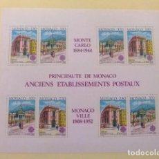 Sellos: MONACO 1990 EUROPA CEPT ANTIGUOS EDIFICIOS DE CORREOS YVERT BLOC 49 ** MNH. Lote 154279574