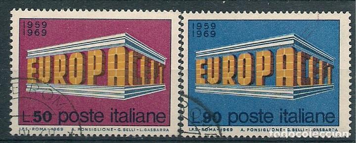 ITALIA - EUROPA CEPT 1969 - MATASELLADOS (Sellos - Temáticas - Europa Cept)