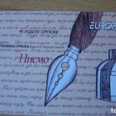 Sellos: TEMA EUROPA CARNET BOSNIA HERZEGOVINA AÑO 2008 PERFECTO. Lote 159420082