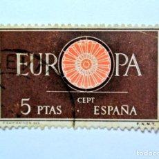 Sellos: SELLO POSTAL ESPAÑA 1960, 5 PTAS , EUROPA CEPT , USADO. Lote 159596706