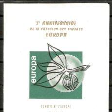 Sellos: FRANCIA.1965.DOCUMENTO CONSEIL DE EUROPA. 2 SCANS. Lote 160479270