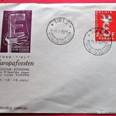 Selos: BÉLGICA. SPD 1064 EUROPA-CEPT. 1958. MATASELLO: 11.7.59 TIELT. Lote 162041112
