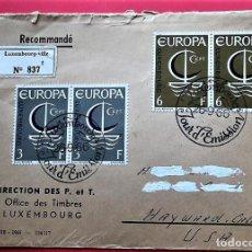 Selos: LUXEMBURGO. SPD 684/85 EUROPA-CEPT. BARCO. 1966. MATASELLO: 26-9-66 LUXEMBOURG. VER FOTO. Lote 162041770