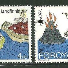 Sellos: FEROE 1994 IVERT 254/5 *** EUROPA - LOS DESCUBRIMIENTOS. Lote 162287534