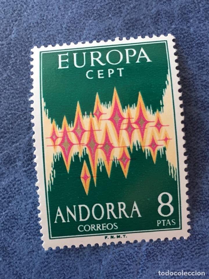 ANDORRA ESPAÑA EUROPA CEPT 1972 NUEVO PERFECTO EDIFIL 72 LEVE FALTA DE DIENTE (Sellos - Temáticas - Europa Cept)